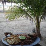 Pescaito en las playas de Honduras