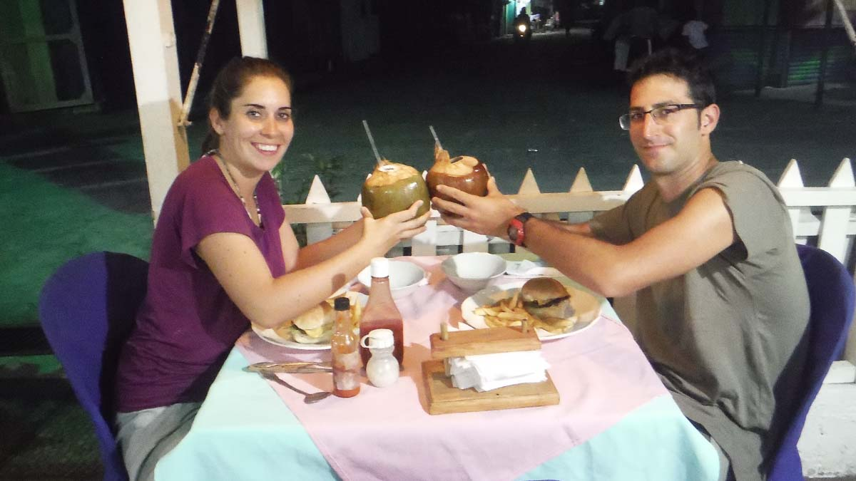 Comer en Livingston Guatemala