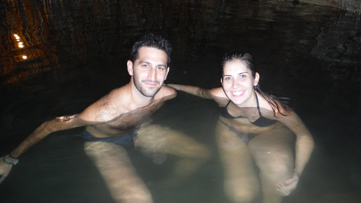 Baño en un cenote