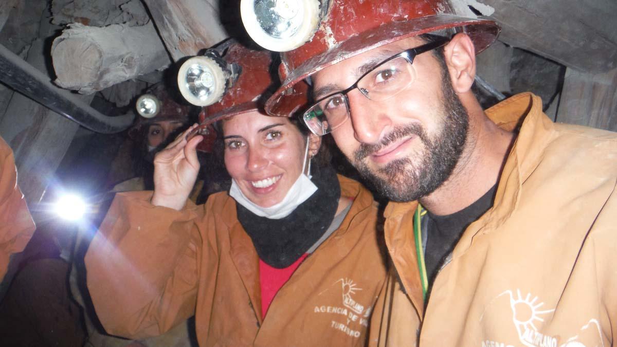 En el interior de la mina