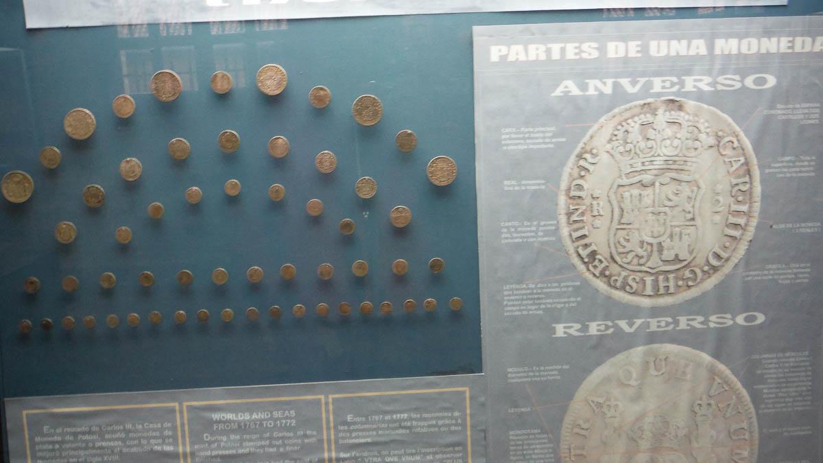 Monedas españolas en Potosi