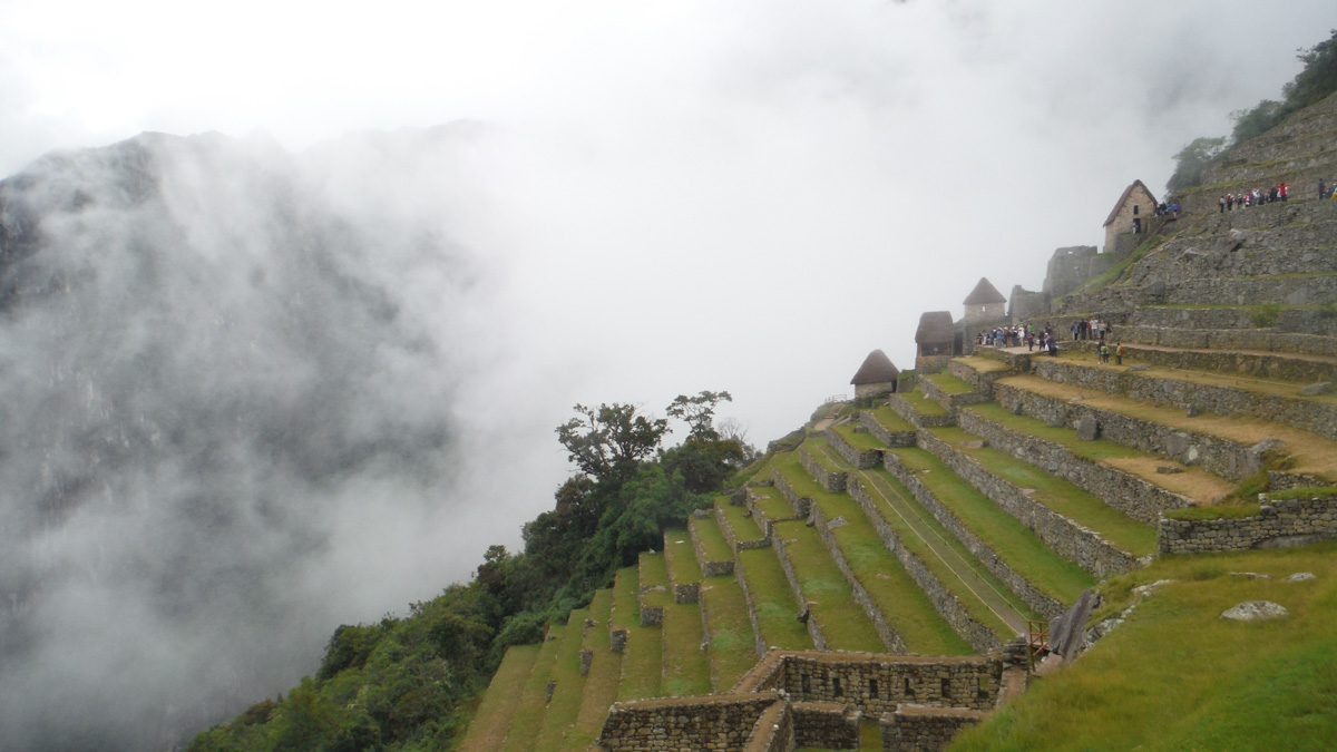 Escalinata en Machu Picchu
