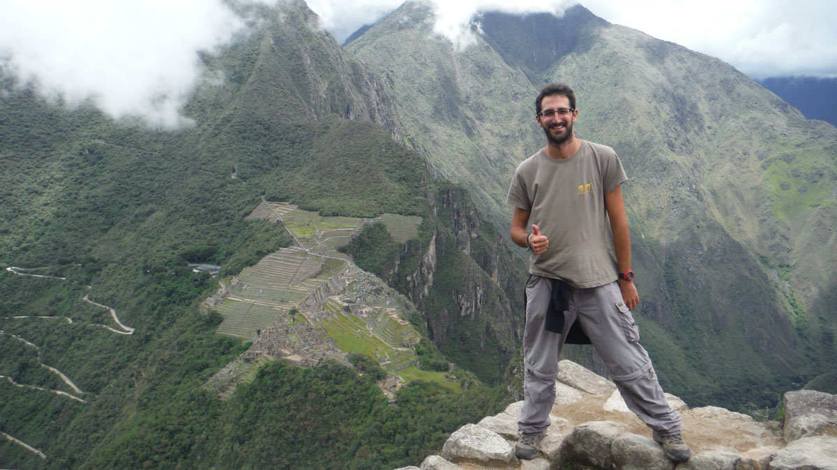 JP en Huayna Picchu