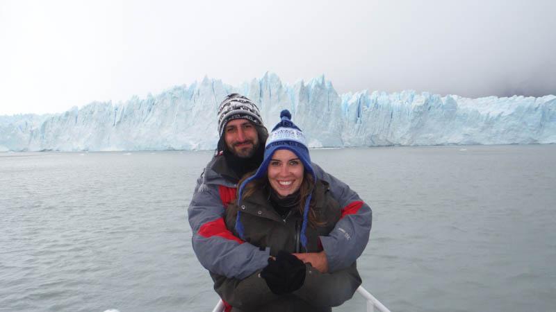 Nosotros en el Perito Moreno cerca de Calafate