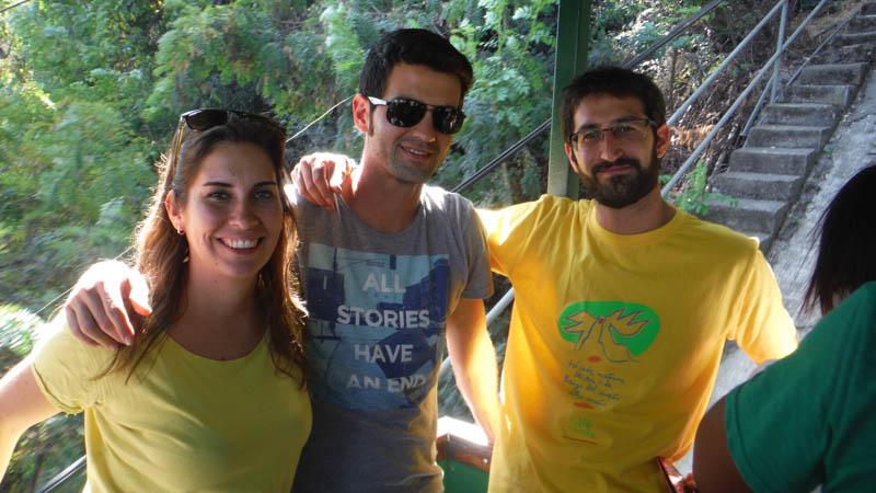 con amigos en Santiago de Chile