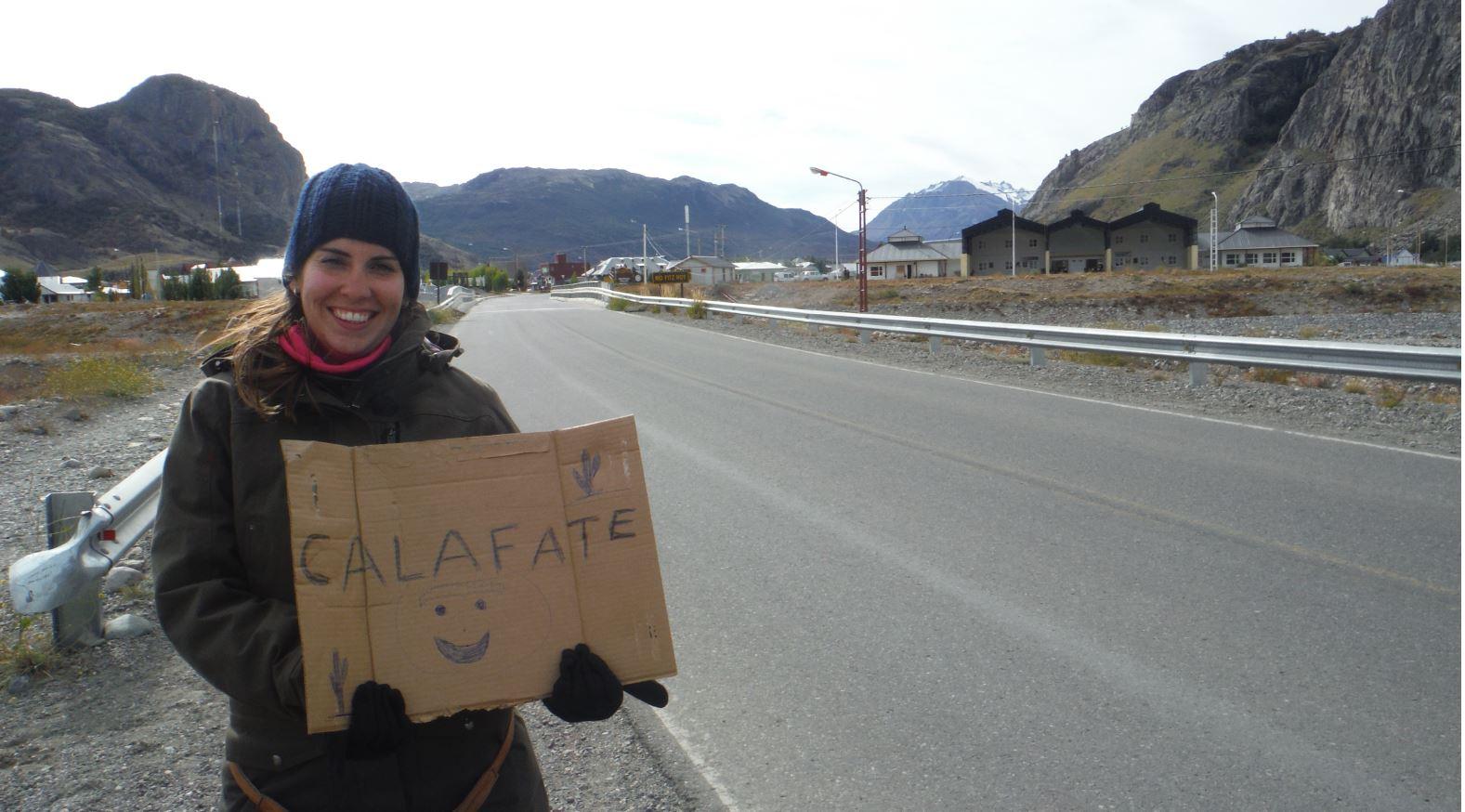 Autostop en El Chalten