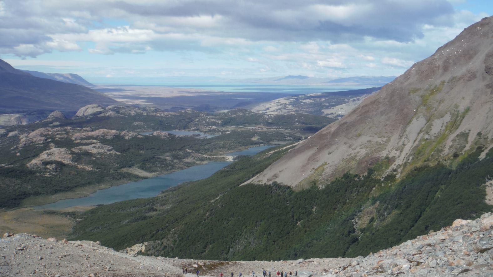 Descenso trekking El Chalten