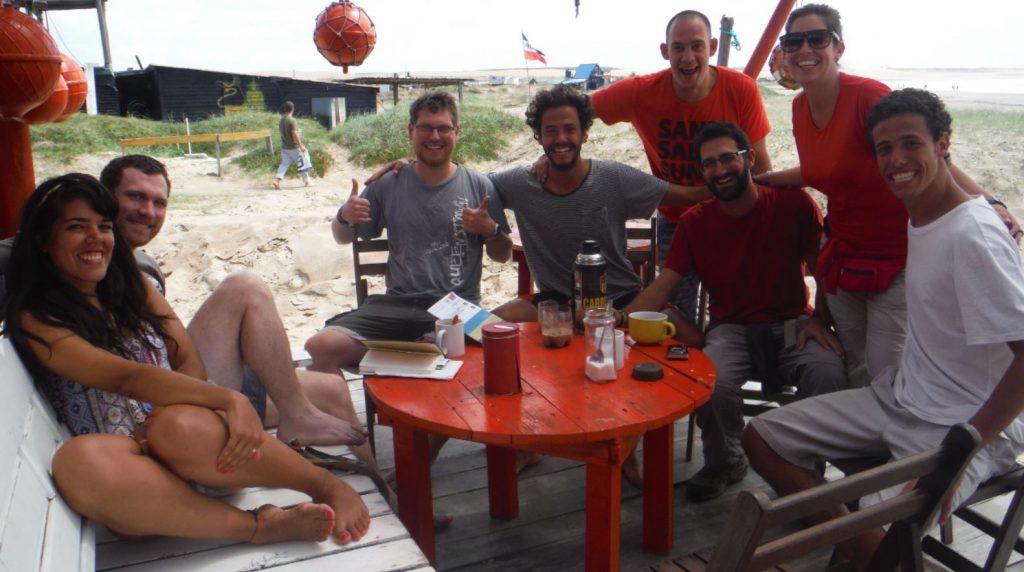 Con amigos en Parque Nacional Cabo Polonio