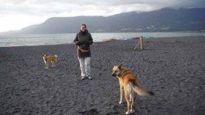 Playa lacustre en Pucon