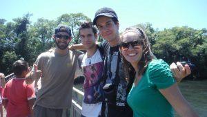Amigos en Puerto Iguazu