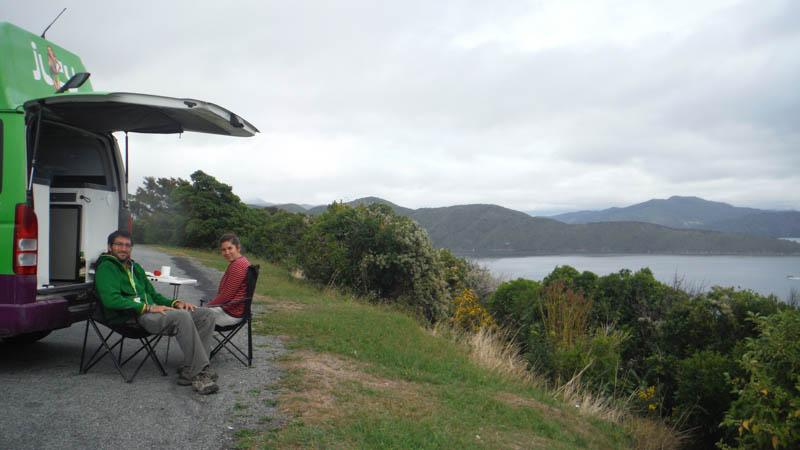 Acampados en Isla Sur de Nueva Zelanda