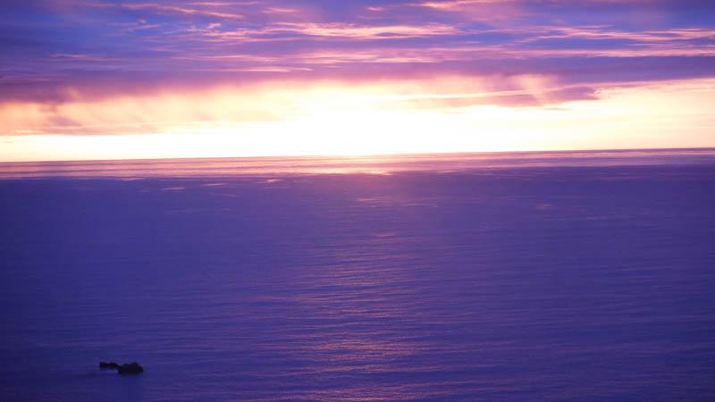 Puesta de sol en Isla Sur