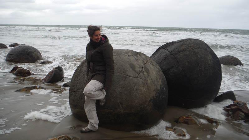 Moeraki o piedras esféricas en Nueva Zelanda