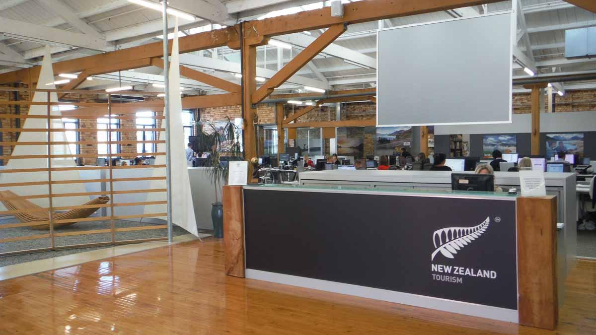 Oficina de turismo de Nueva Zelanda