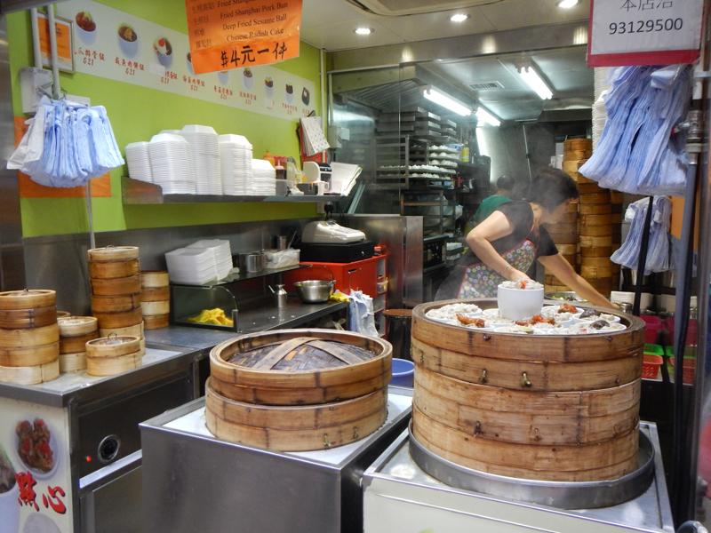 puestos callejeros en Hong Kong