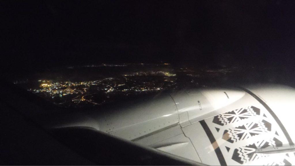Nadi (Islas Fiji) desde el avión