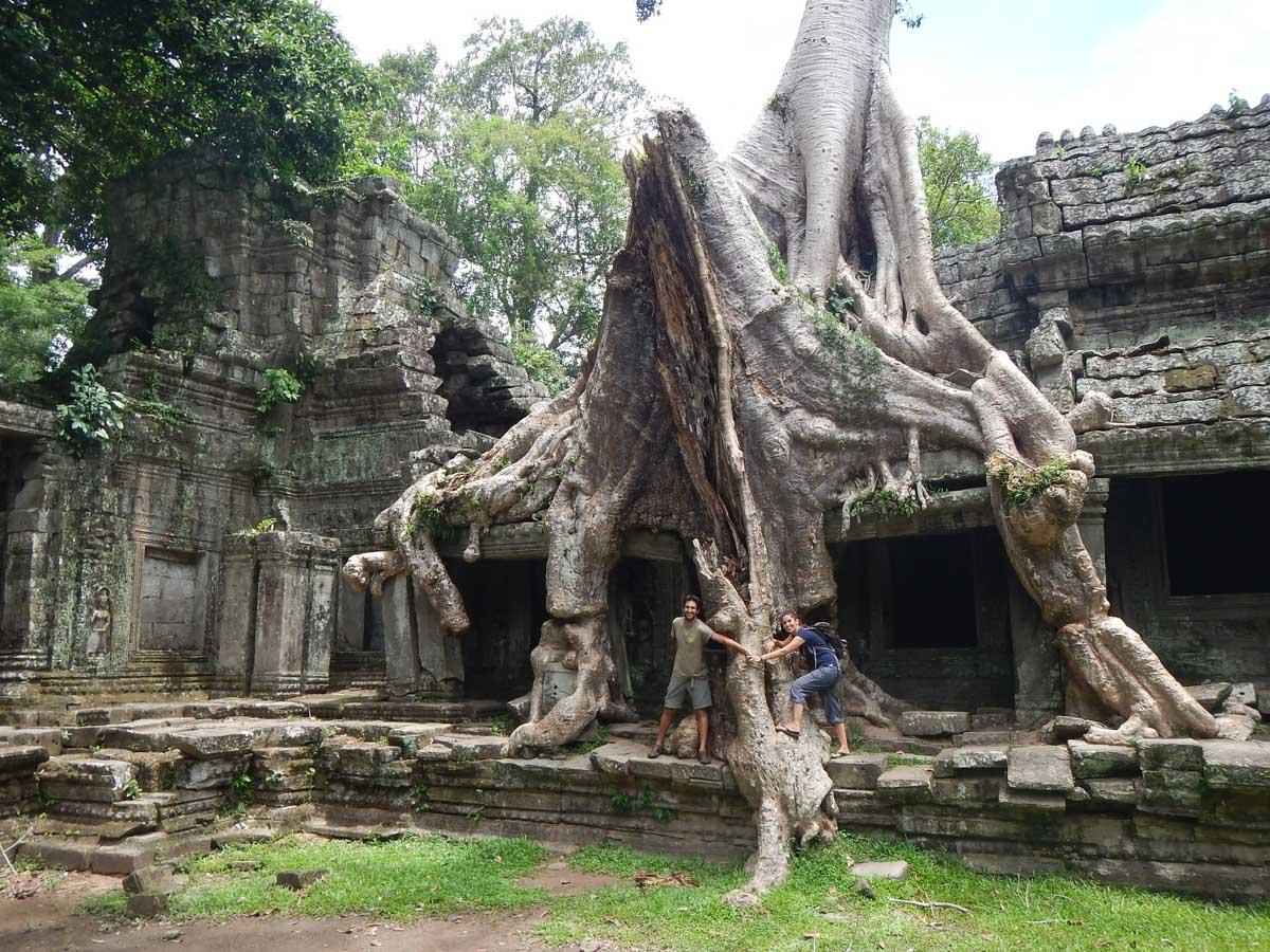 Nosotros en los Templos de Angkor