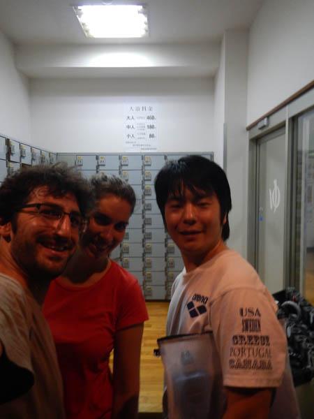 con amigo en Tokio