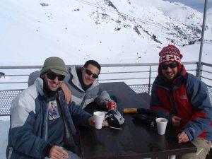Con amigos en Andorra