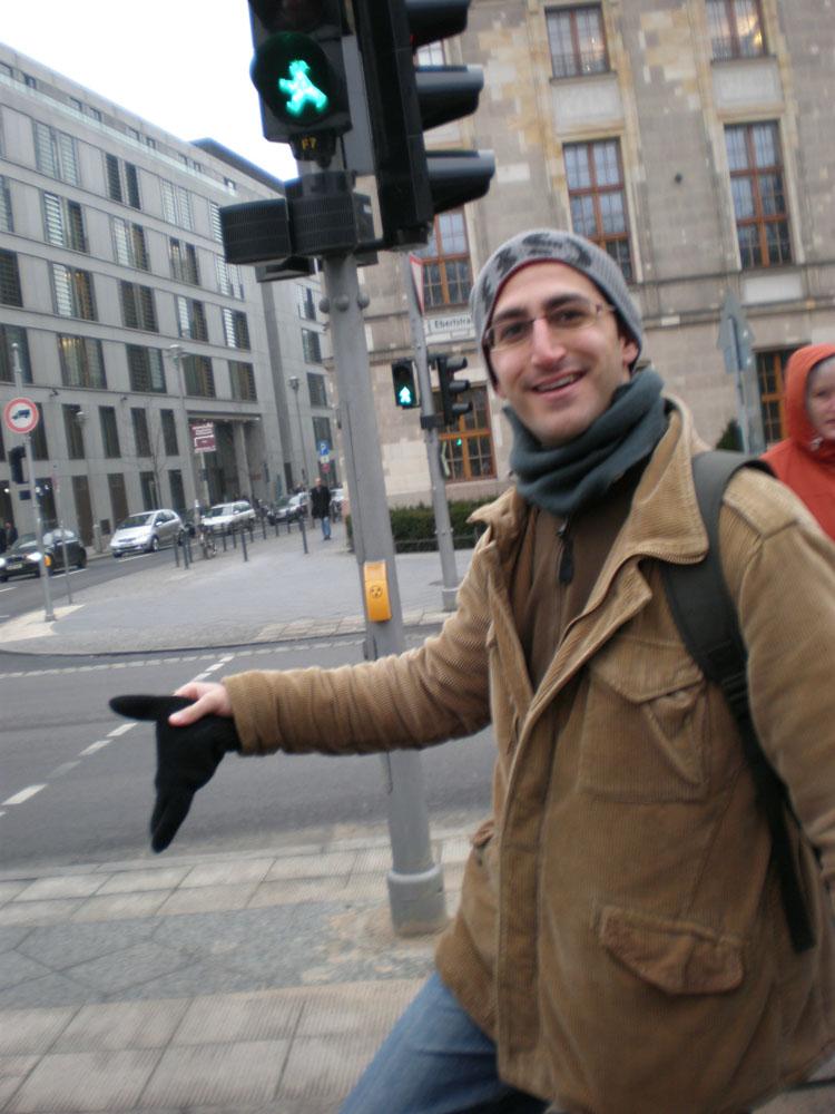 Simpaticos hombrecitos en el semaforo