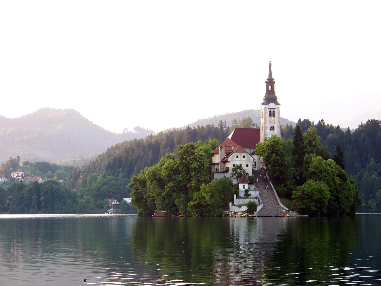 Lago de Bled en Eslovenia