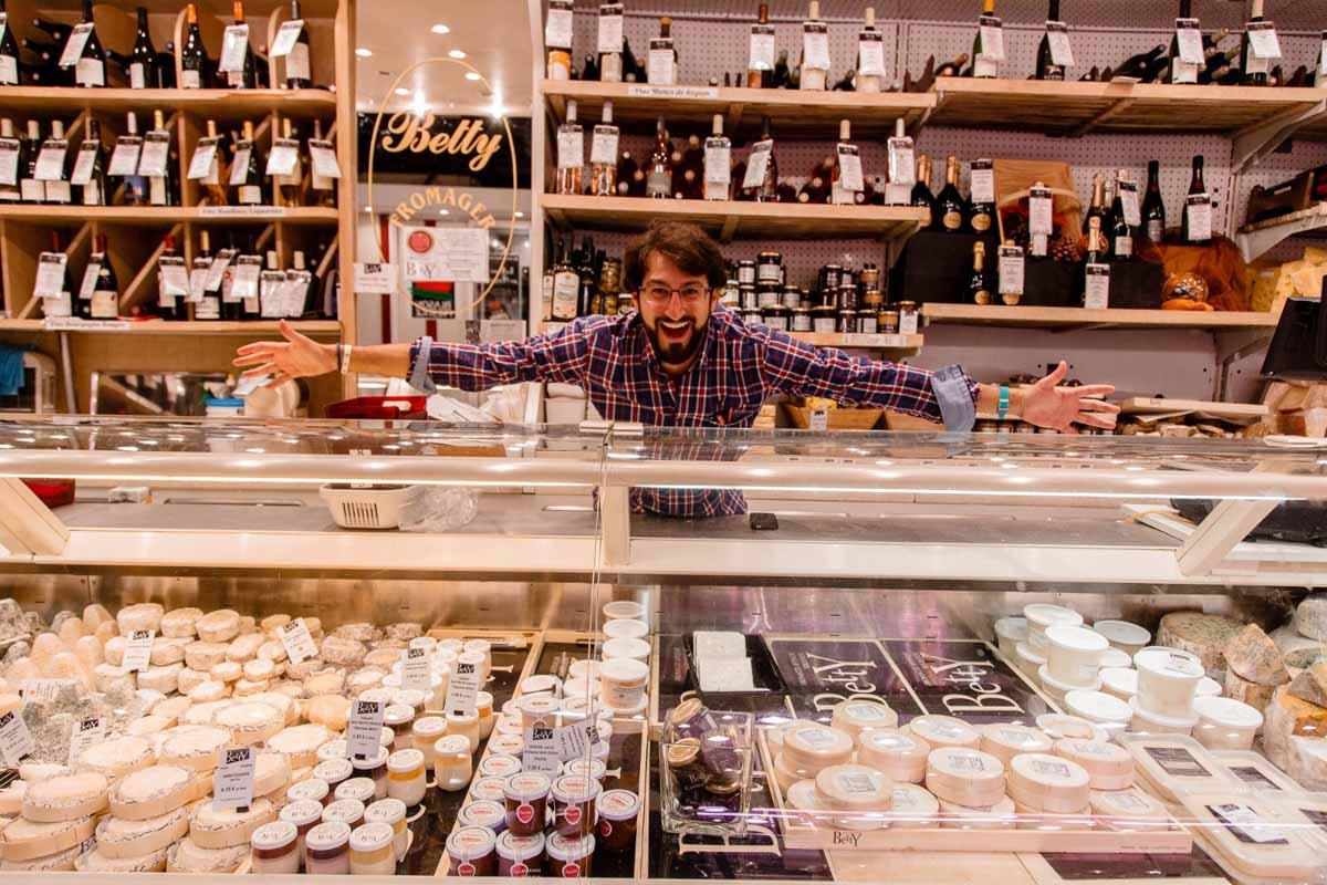 JP en tienda de comestibles