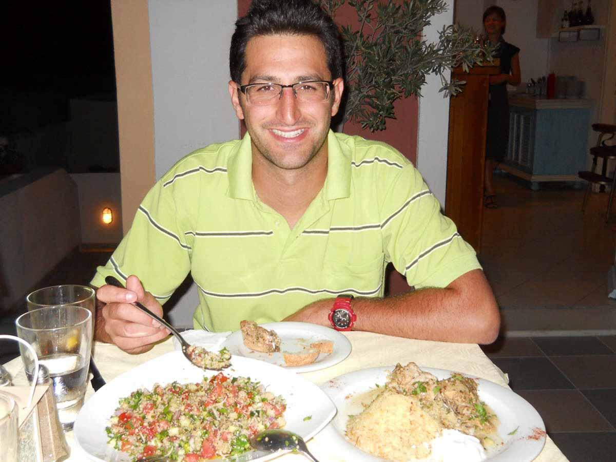 Comer en Grecia