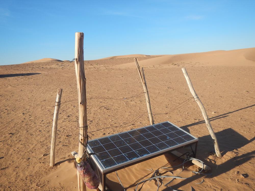 placa solar en el Desierto