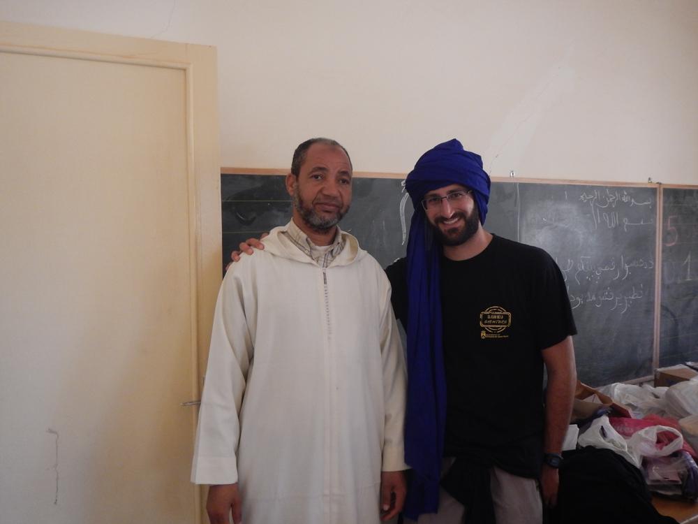 JP y habitante de Mhamid