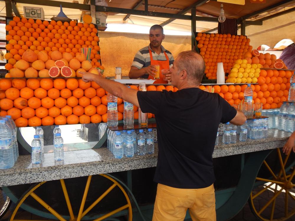 puesto en Marrakech