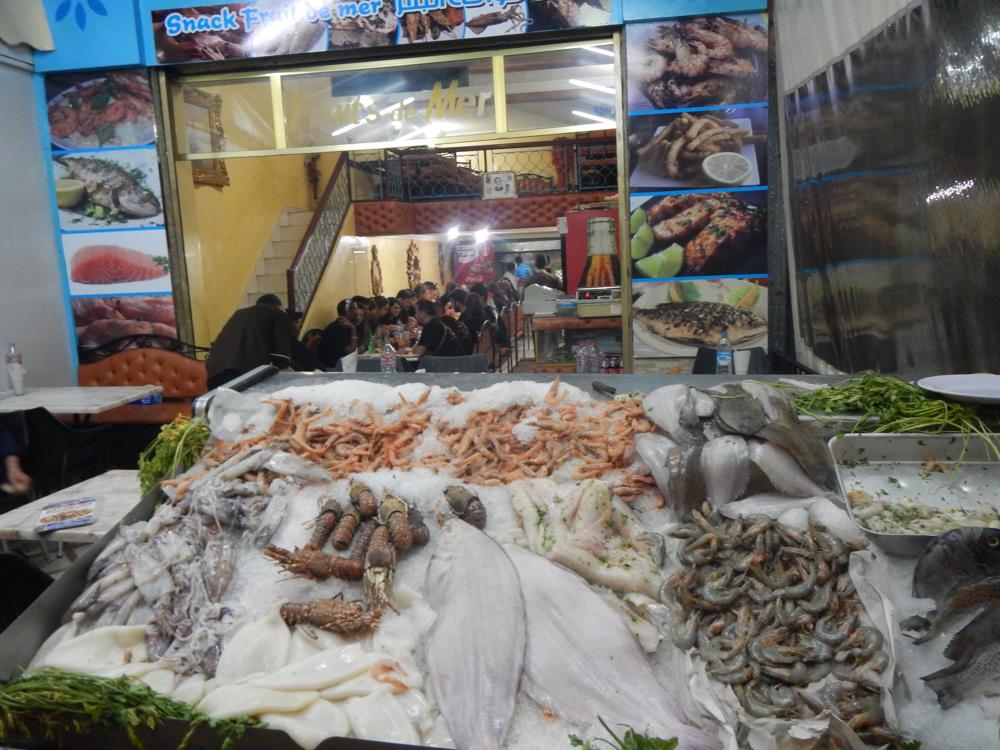 restaurante de pescado, Marrakech
