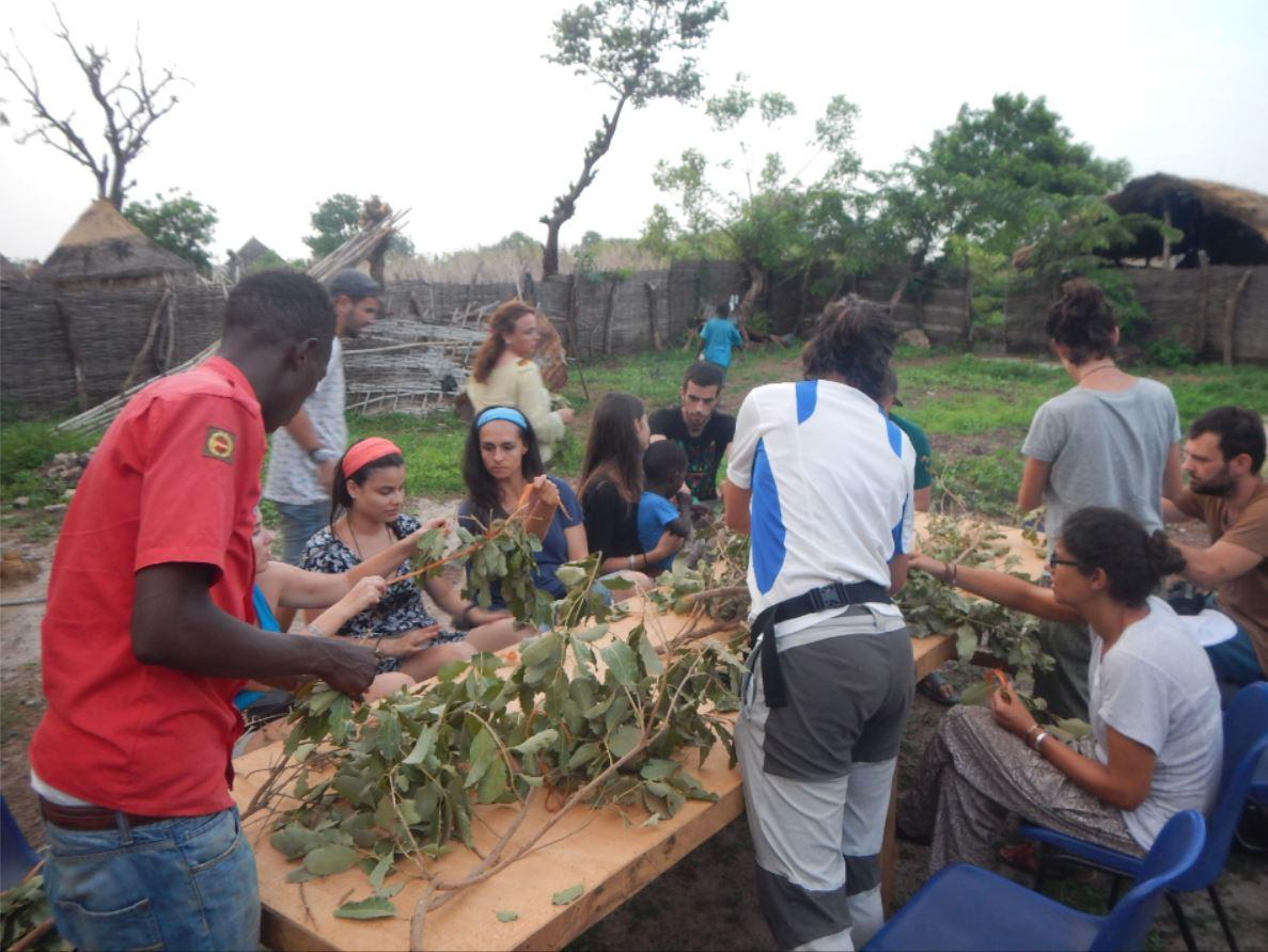 poblado en Río Gambia