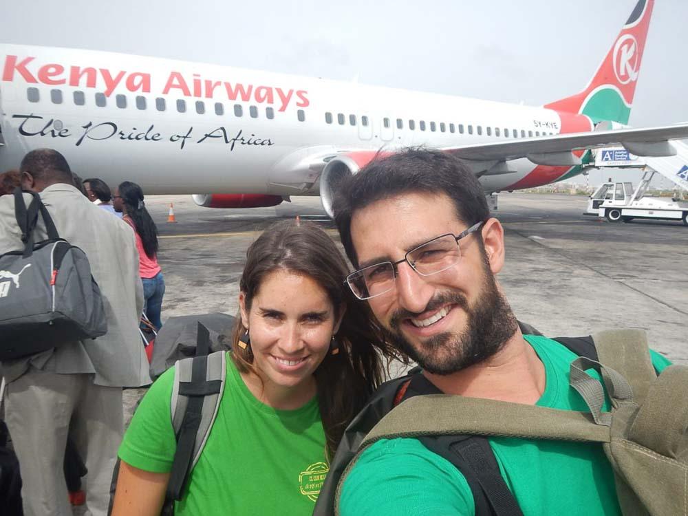 De camino a Sudafrica
