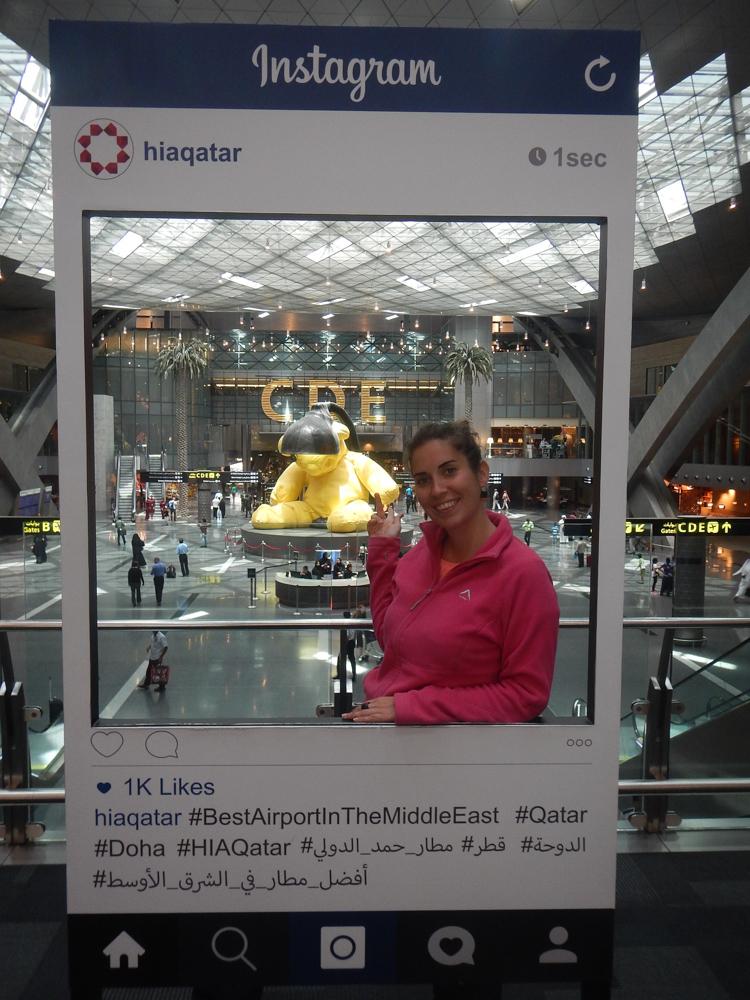 MJ en aeropuerto de Qatar