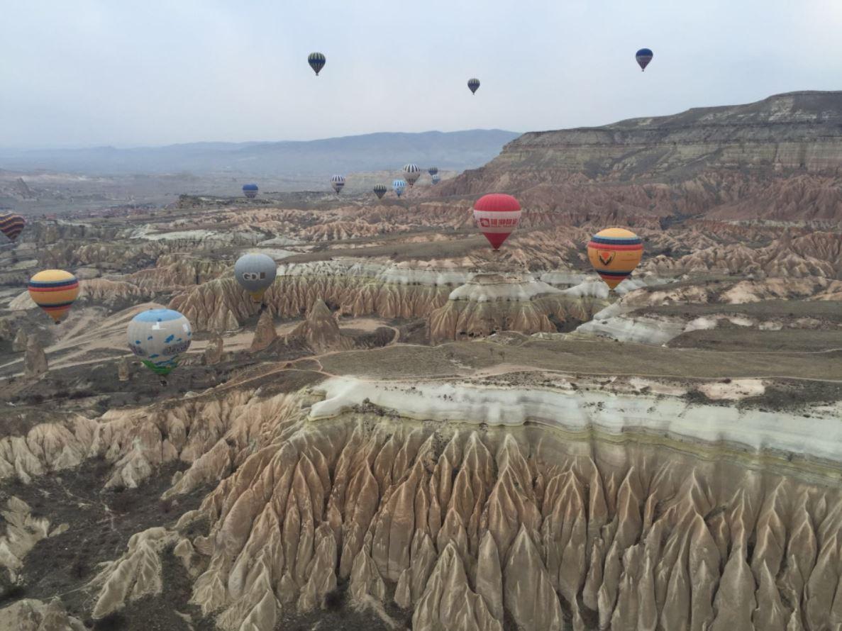 globos en la Capadocia
