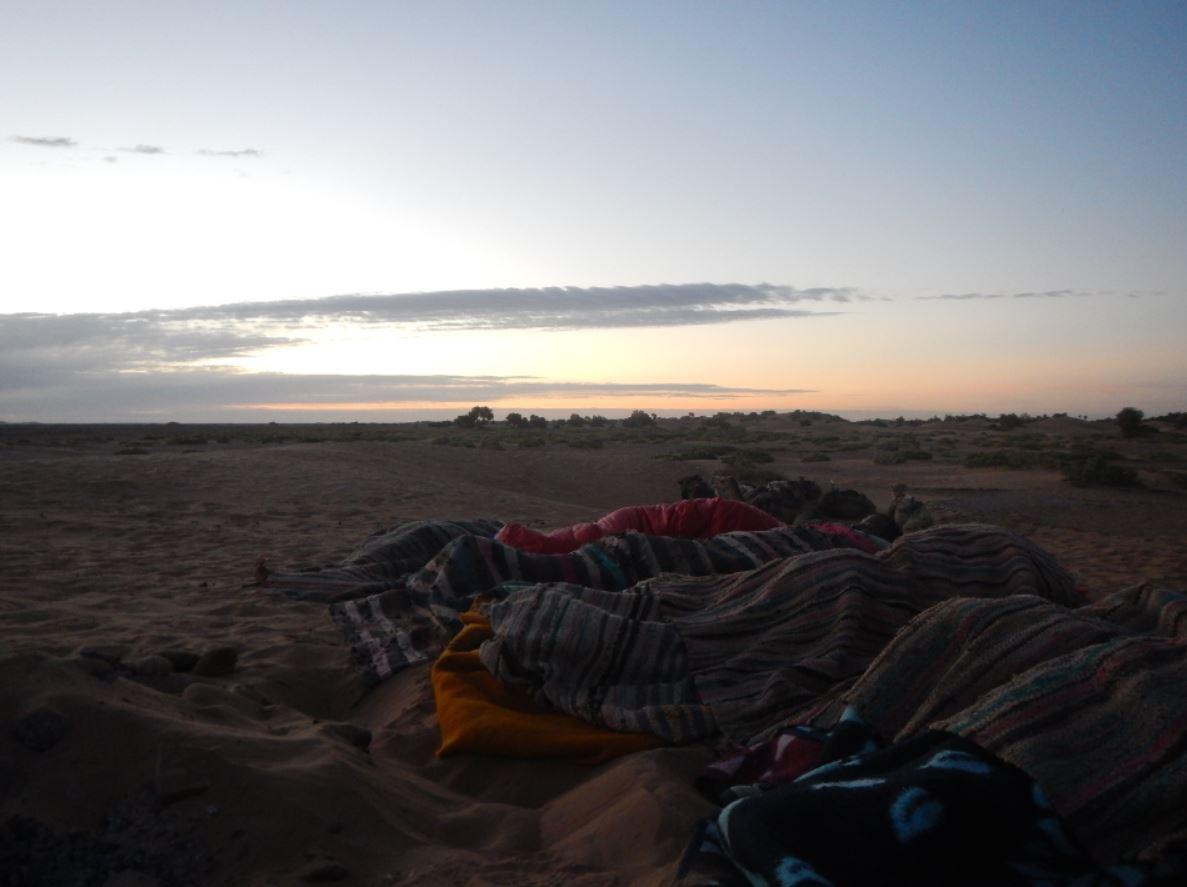 Dormir en el desierto