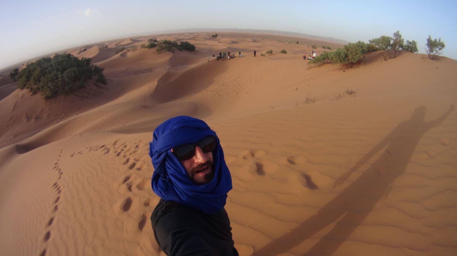 JP en las dunas de Marruecos