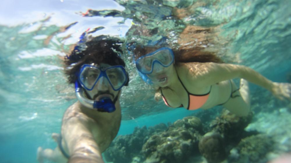 Nosotros en islas en Maldivas