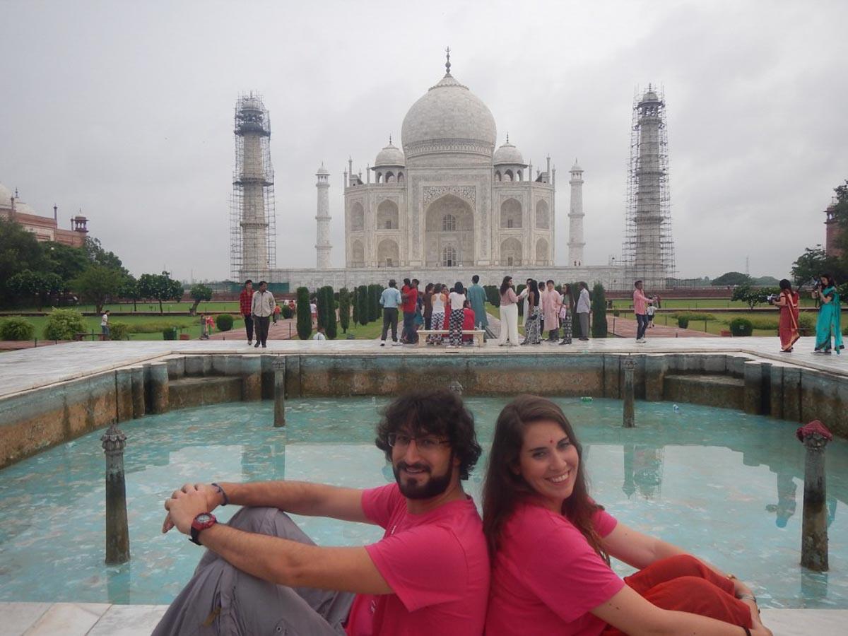 Nosotros en el Taj Mahal