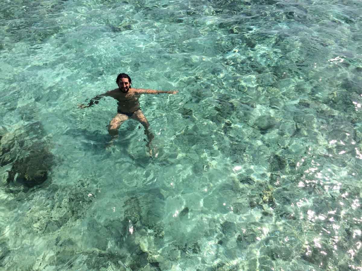 Aguas turquesas de Maldivas