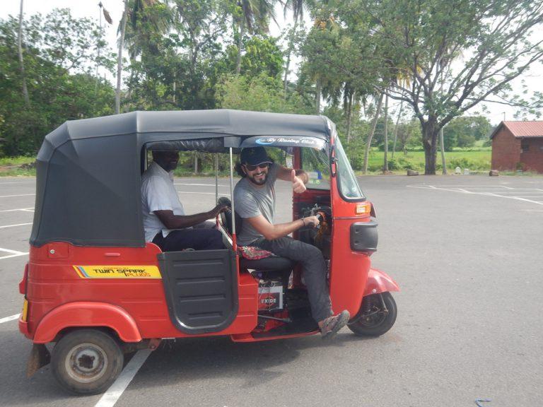 Tuc tuc en Sri Lanka