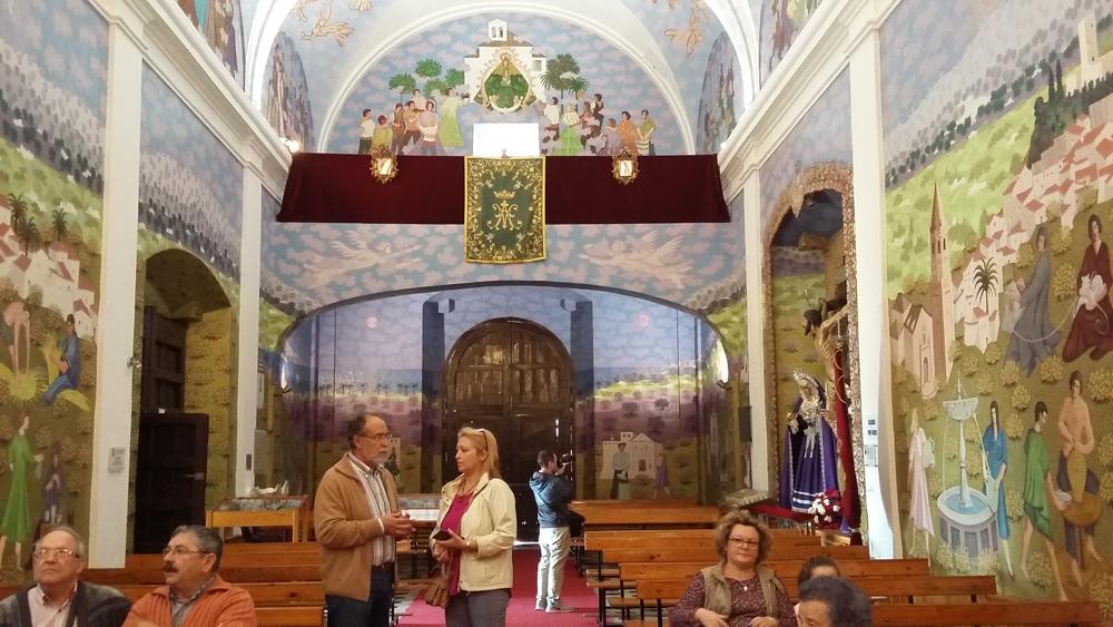 Interior de la Ermita de la Virgen de los Remedios de Velez Malaga