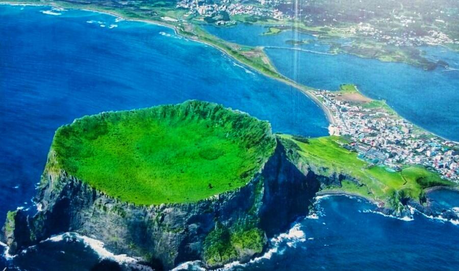 Isla de Jeju desde el aire