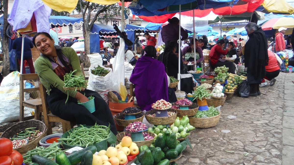 Mercado en el Estado de Chiapas