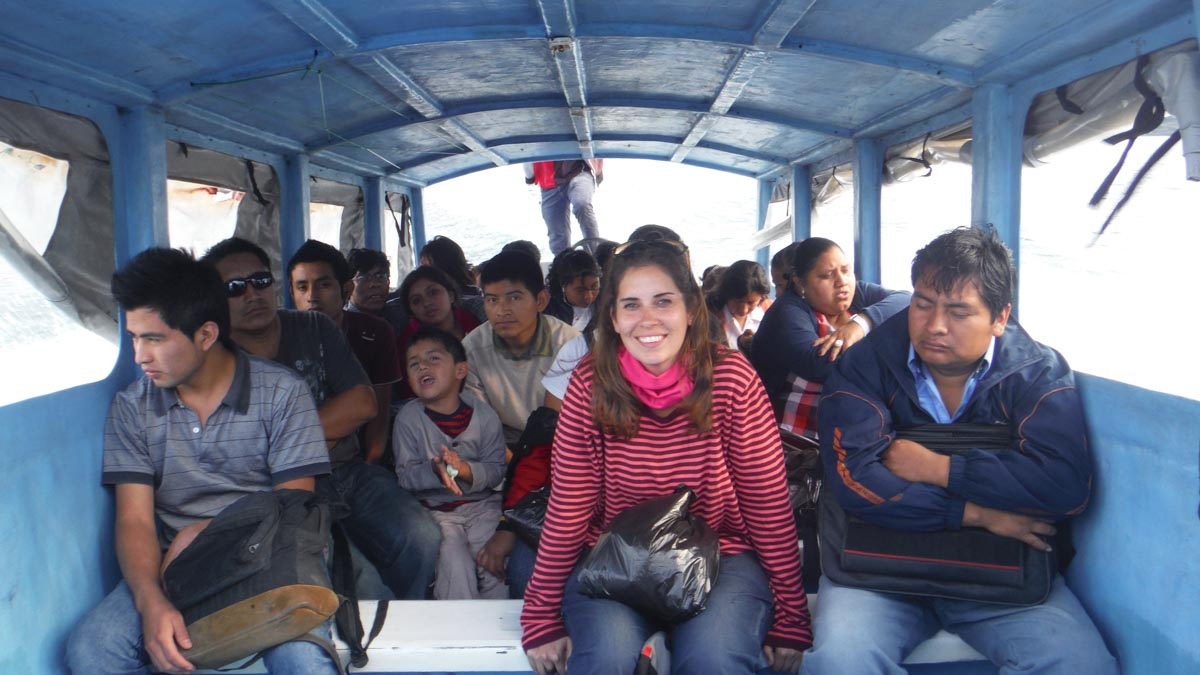 Ruta acuatica por el lago Atitlan