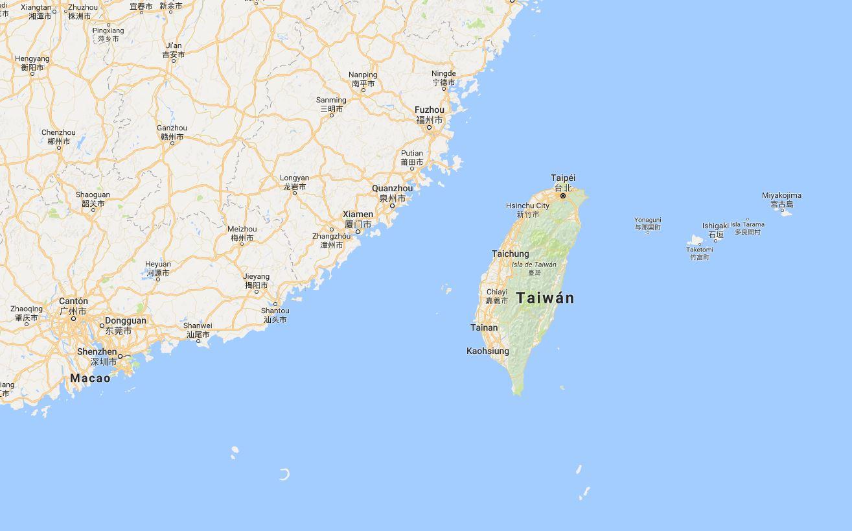 Mapa Taiwan
