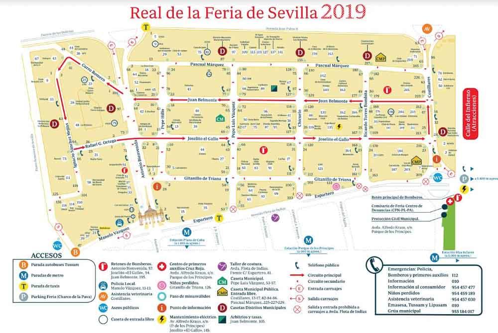 Mapa Feria de Sevilla