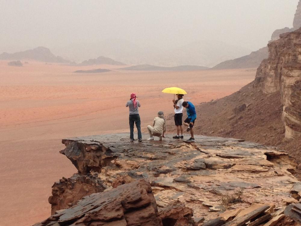 Desierto con lluvia