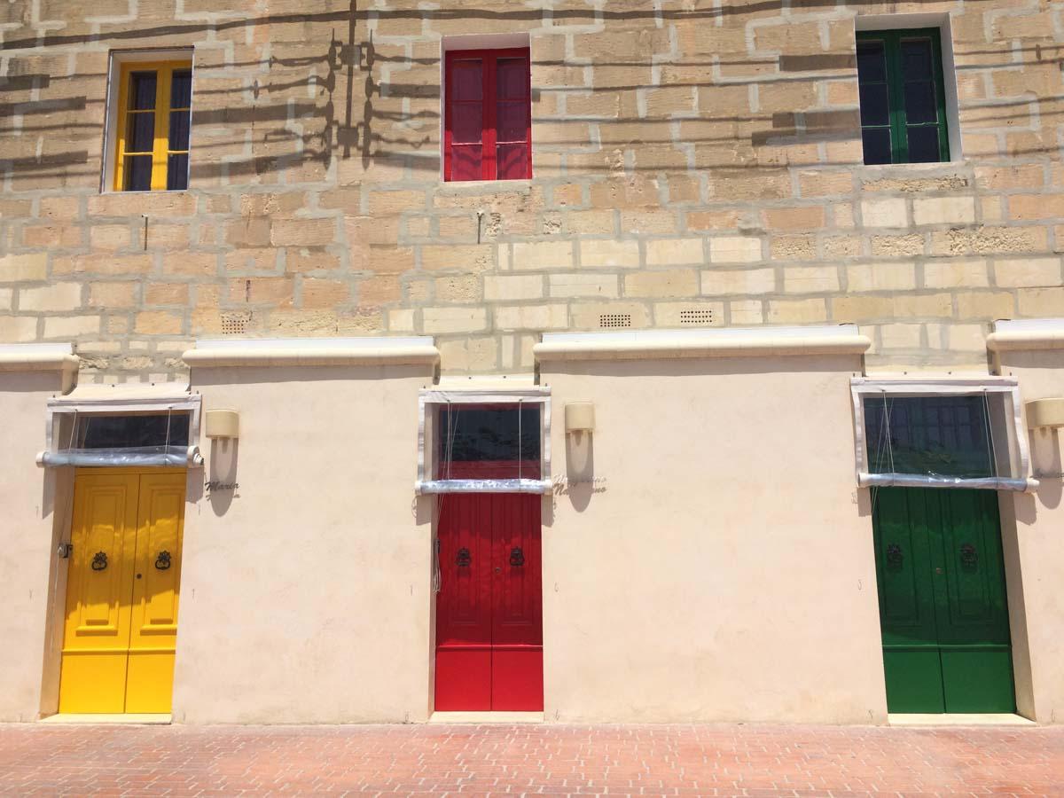 Preciosas fachadas en Malta