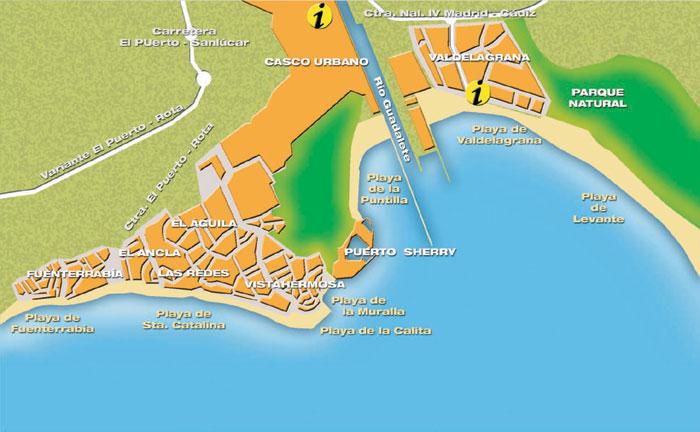 Mapa playas El Puerto